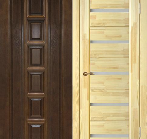 Двери из массива (Сосна)