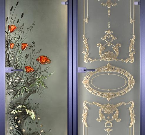 Двери стеклянные (Серия Арт-Декор)