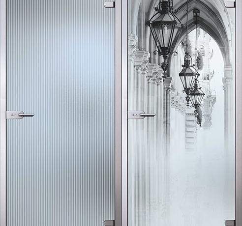 Двери стеклянные (Серия Сатин)