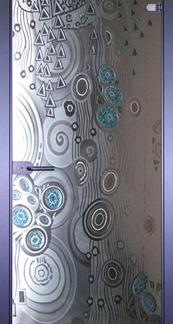 Абстракта, стекло матовое