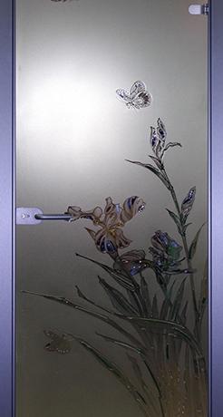 Бабочка 1, стекло матовое