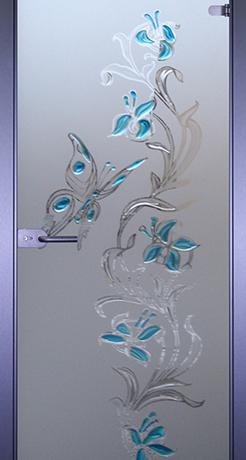 Бабочка 2, стекло матовое