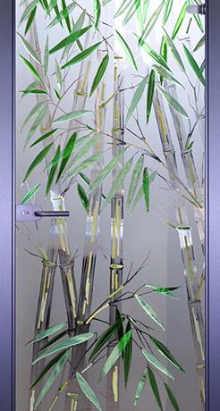 Бамбуковая роща, стекло матовое