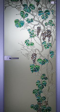 Виноград 2, стекло матовое