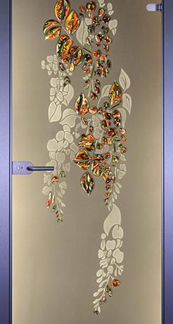 Глициния, стекло матовое