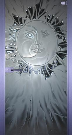Луна-солнце, стекло матовое